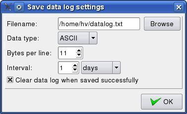 Save data log screen shot